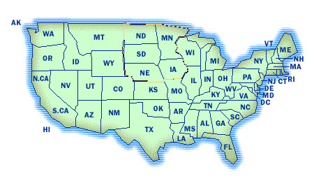 A US map whidh is a client-side image map