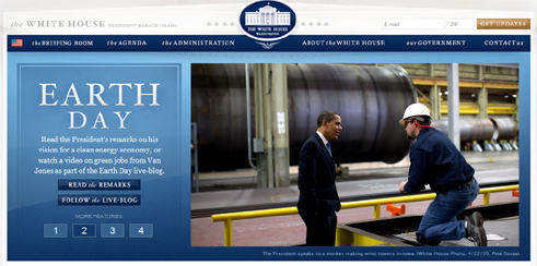 Screen shot  of  Whitehouse.gov