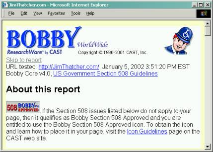 Bobby Report Summary